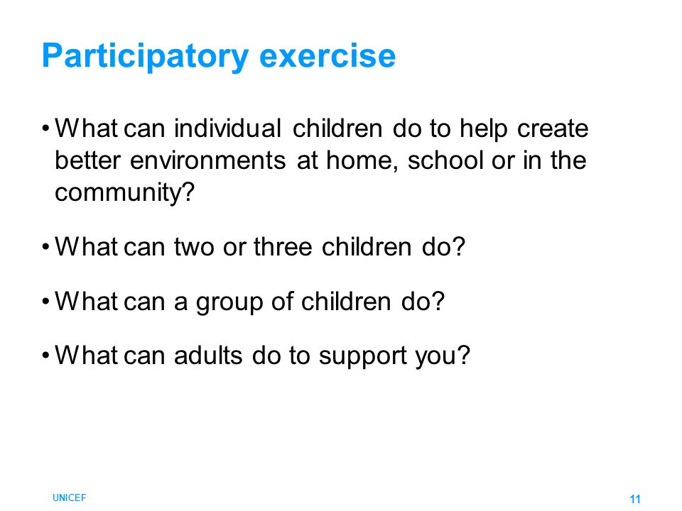 Participatory exercise