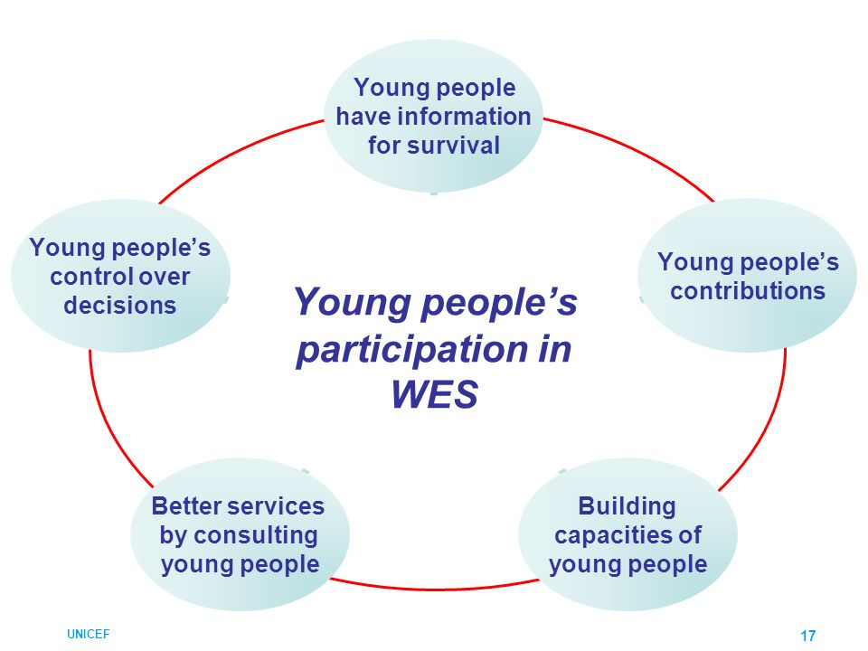 Young people's participation in WES
