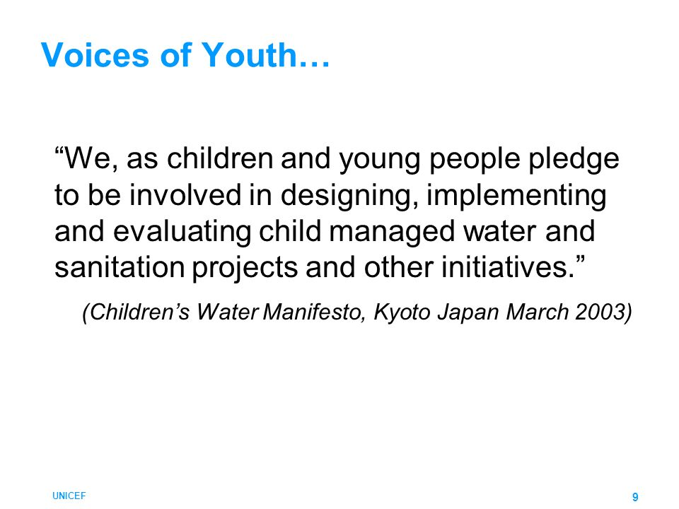 Voices of Youth…