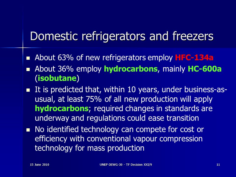 Domestic refrigerators and freezers