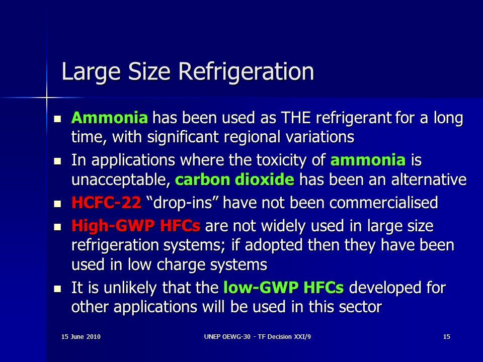 Large Size Refrigeration