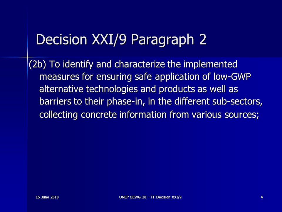 Decision XXI/9 Paragraph 2