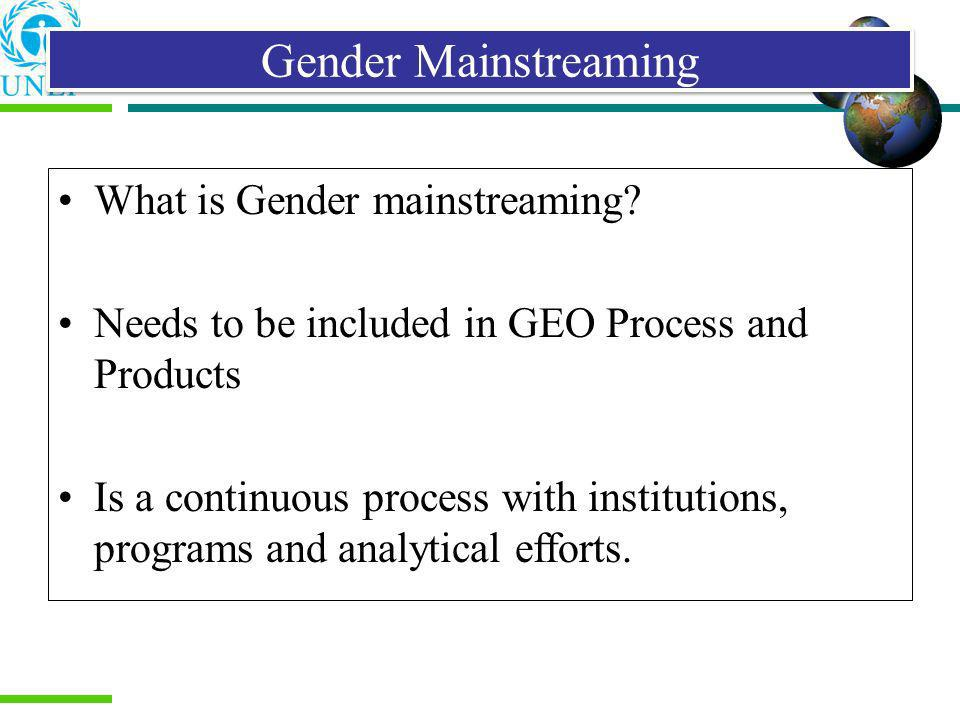 Gender Mainstreaming What is Gender mainstreaming
