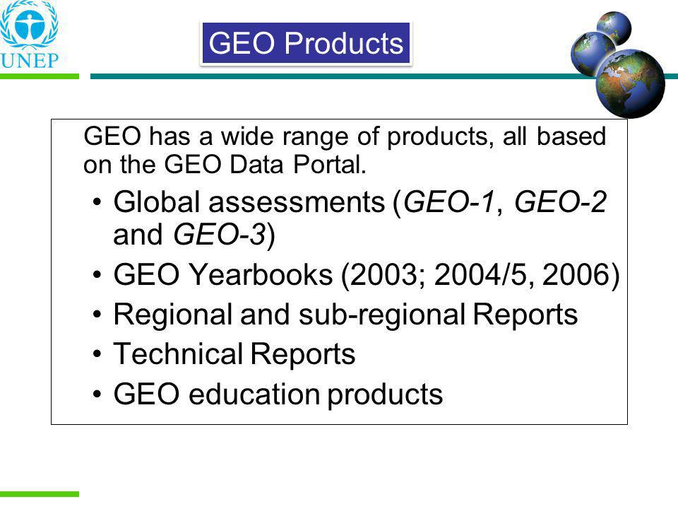 Global assessments (GEO-1, GEO-2 and GEO-3)