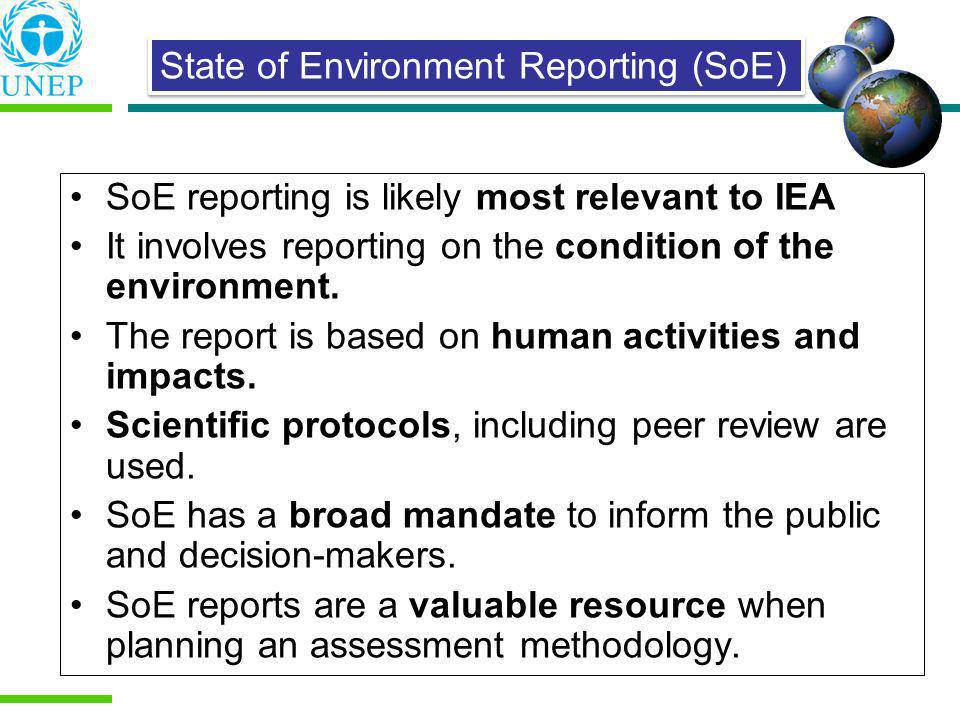 State of Environment Reporting (SoE)