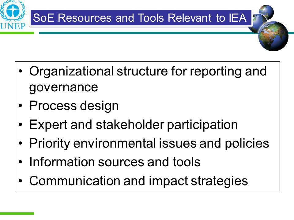 Organizational structure for reporting and governance Process design