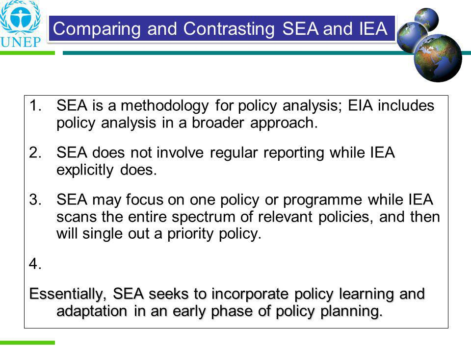Comparing and Contrasting SEA and IEA