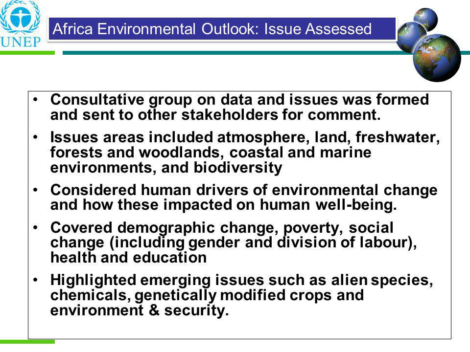 Africa Environmental Outlook: Issue Assessed