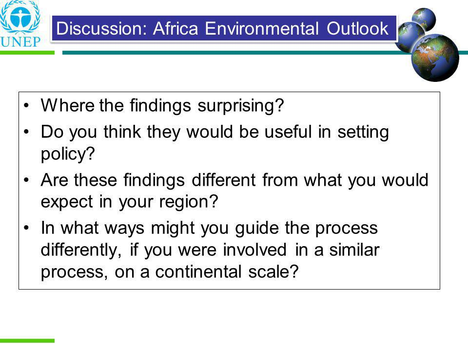 Discussion: Africa Environmental Outlook