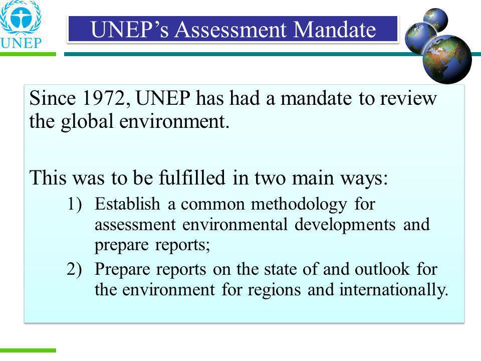 UNEP's Assessment Mandate