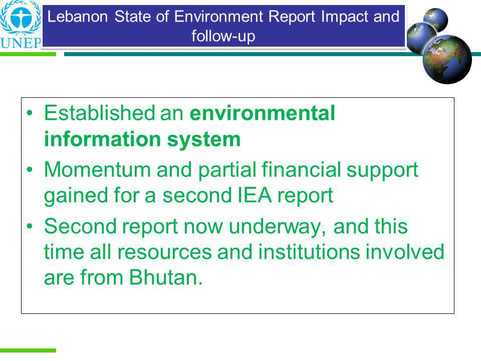 Lebanon State of Environment Report Impact and follow-up