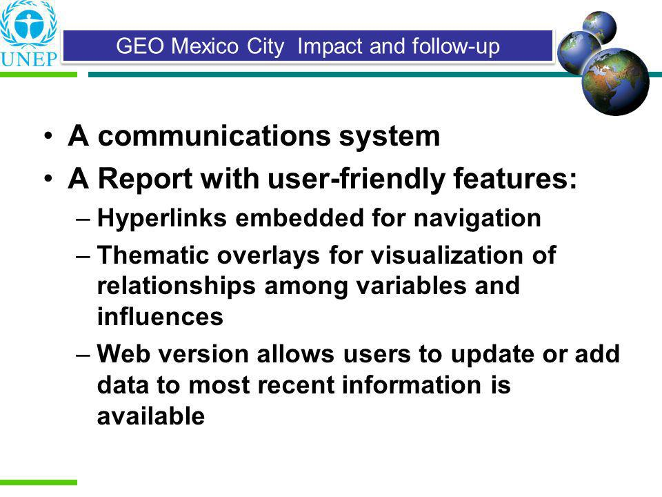 GEO Mexico City Impact and follow-up