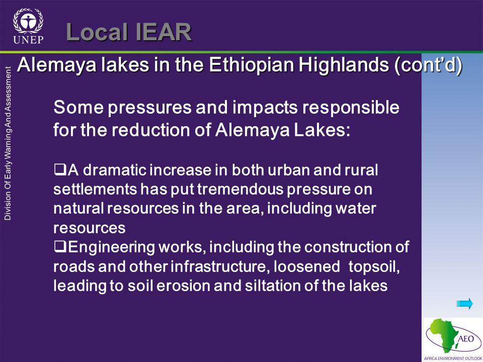Local IEAR Alemaya lakes in the Ethiopian Highlands (cont'd)