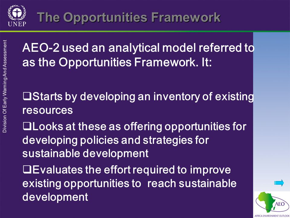 The Opportunities Framework