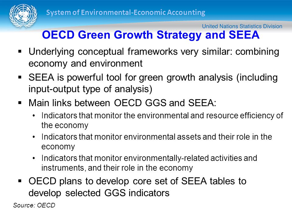 OECD Green Growth Strategy and SEEA