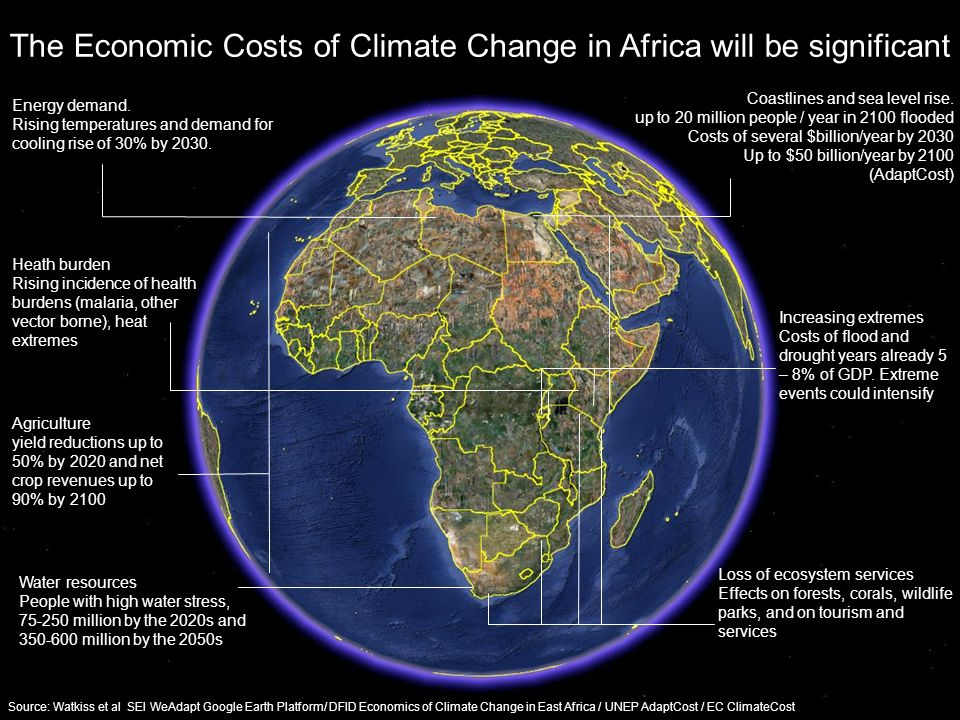 The Economic Costs of Climate Change in Africa will be significant