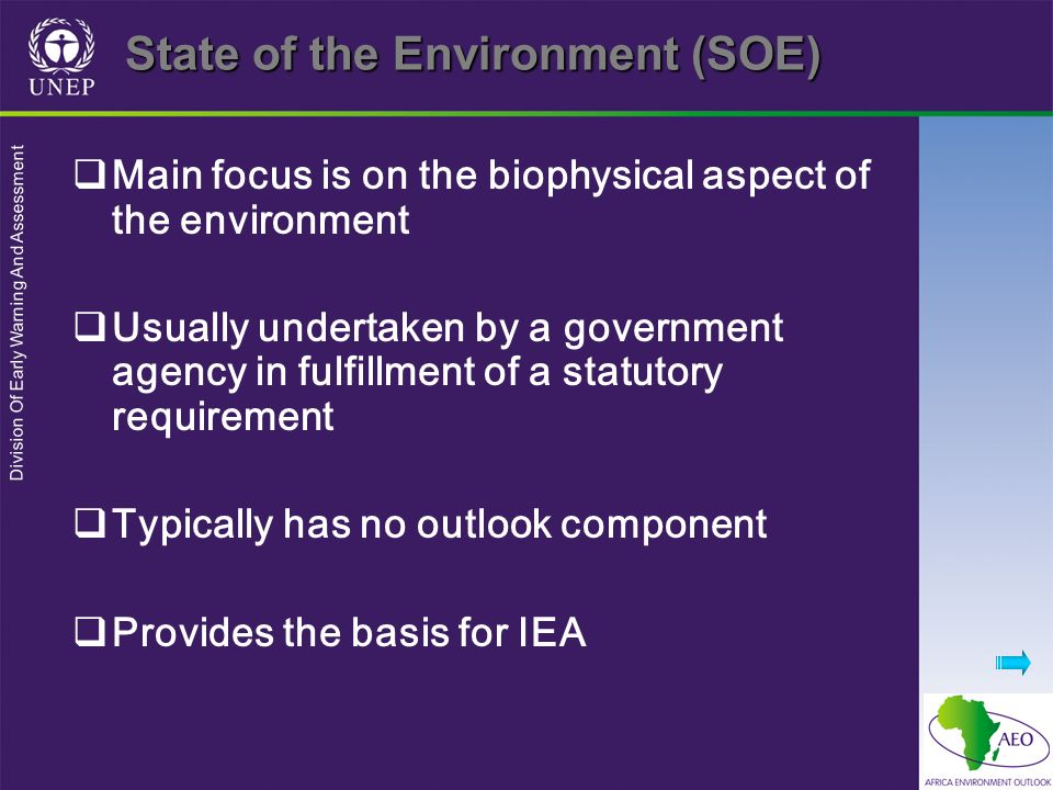 State of the Environment (SOE)