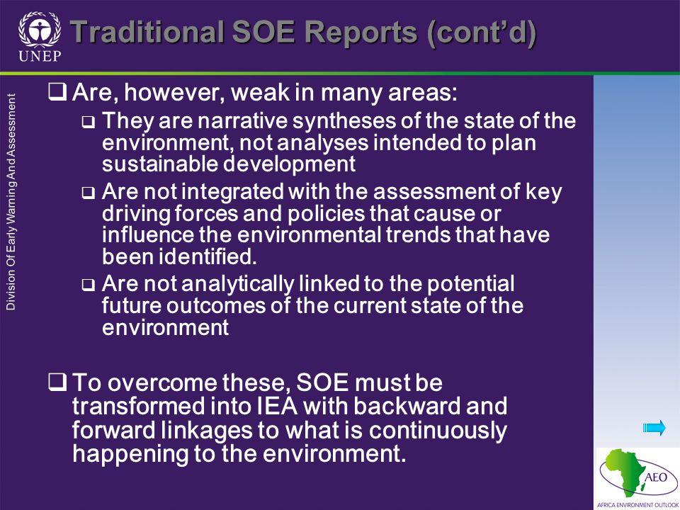 Traditional SOE Reports (cont'd)