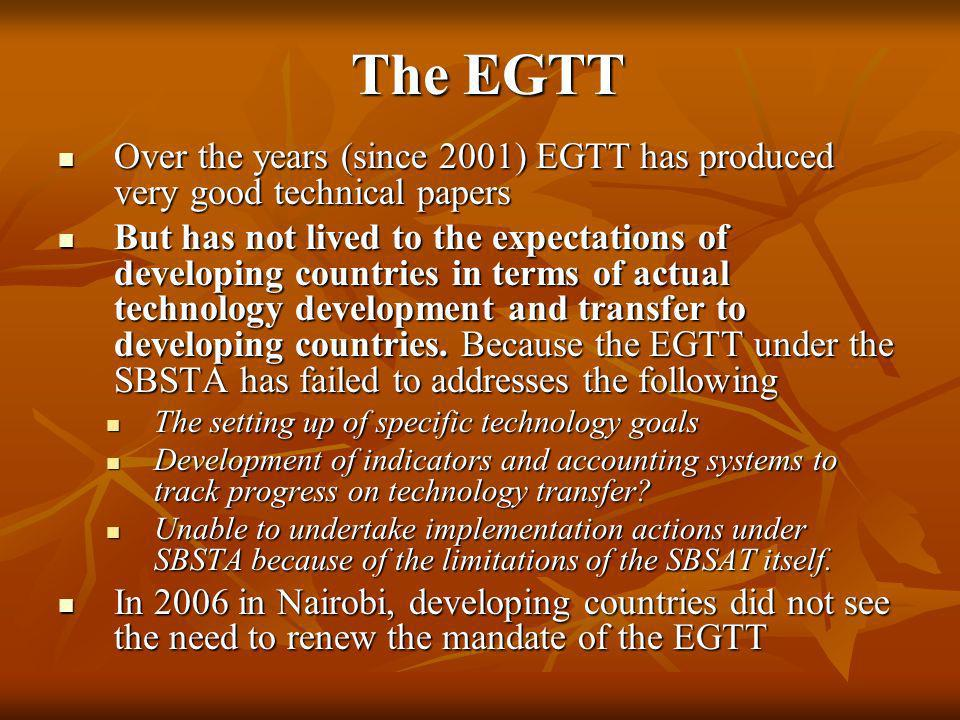 The EGTTOver the years (since 2001) EGTT has produced very good technical papers.