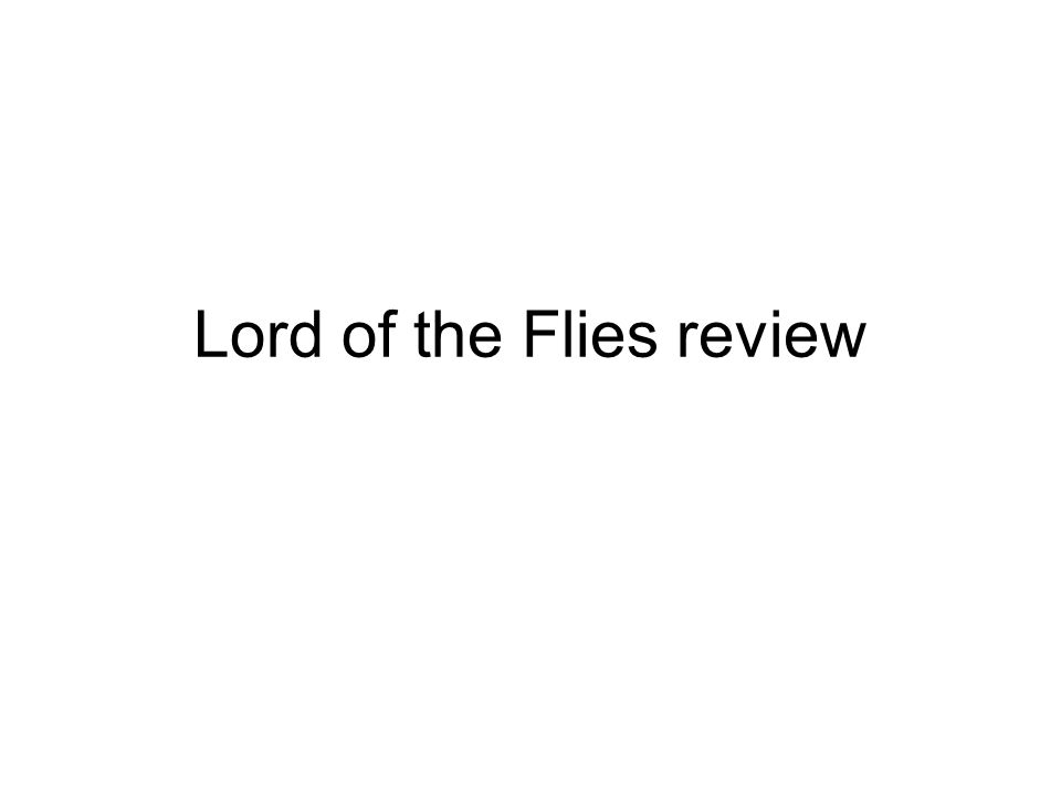 power in lord of the flies essay