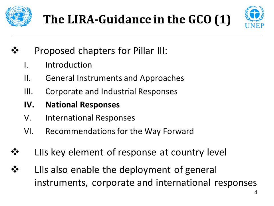 The LIRA-Guidance in the GCO (1)