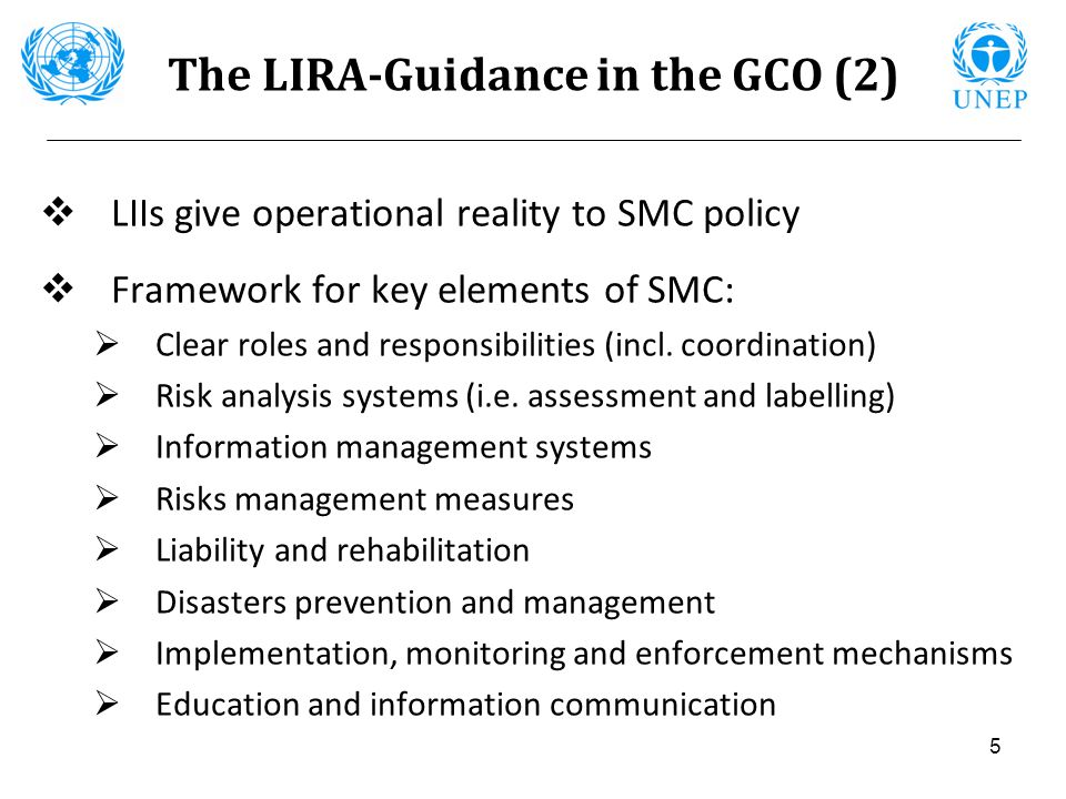 The LIRA-Guidance in the GCO (2)