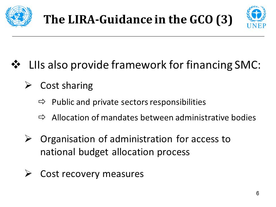 The LIRA-Guidance in the GCO (3)