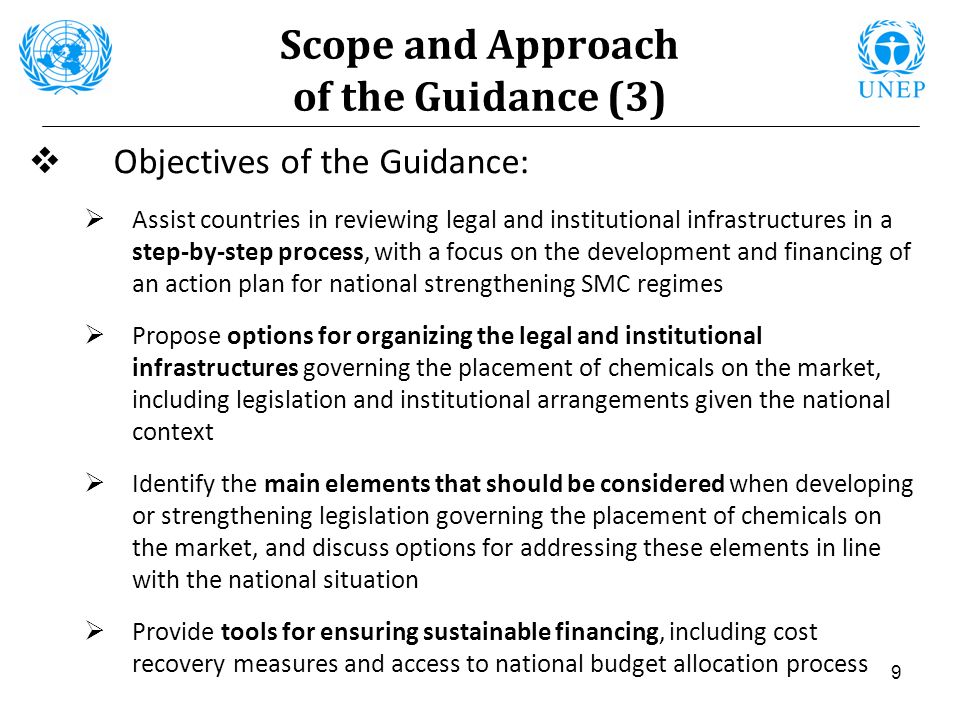 Scope and Approach of the Guidance (3)