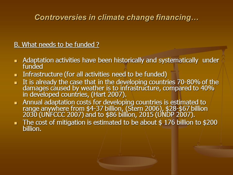 Controversies in climate change financing…