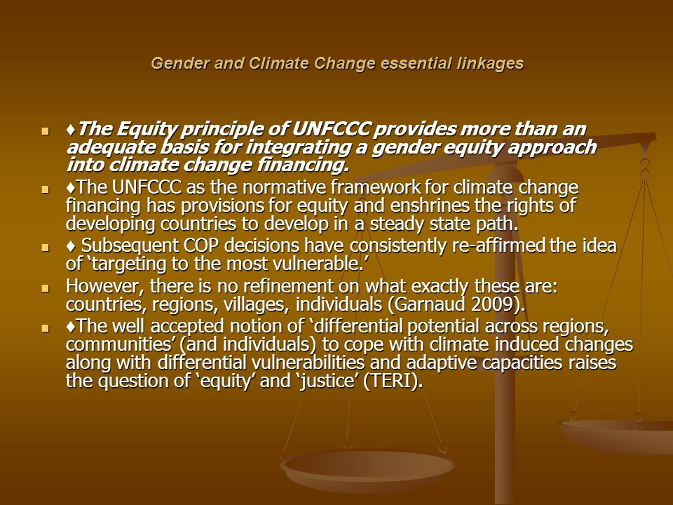 Gender and Climate Change essential linkages