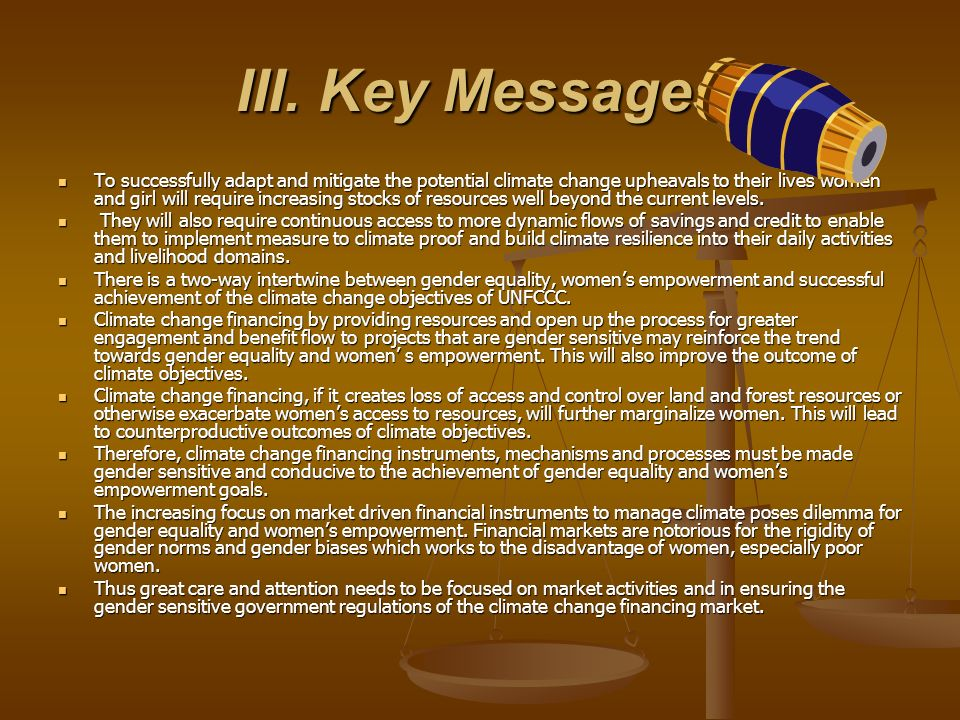 III. Key Messages