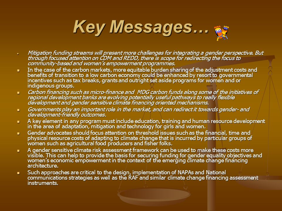 Key Messages…