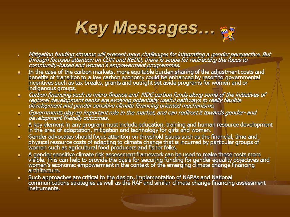 Key Messages…
