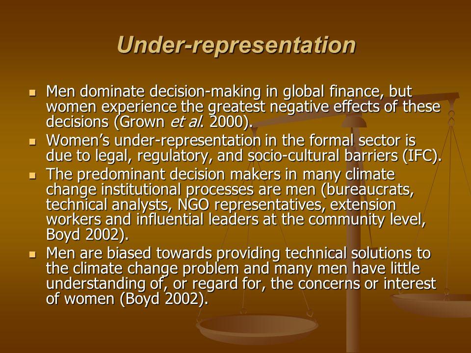 Under-representation