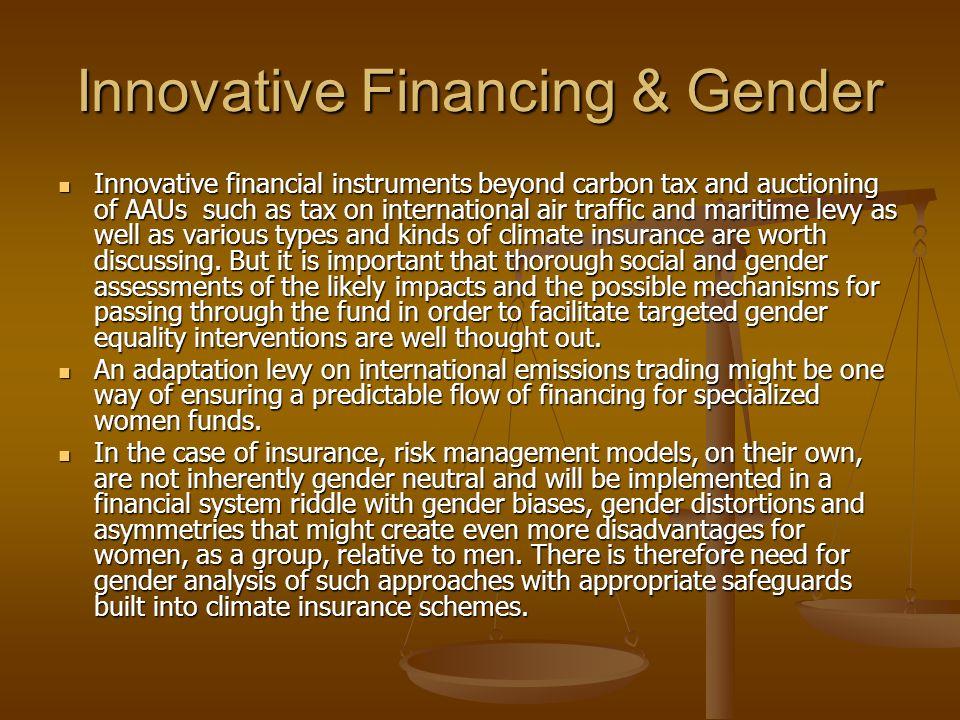 Innovative Financing & Gender