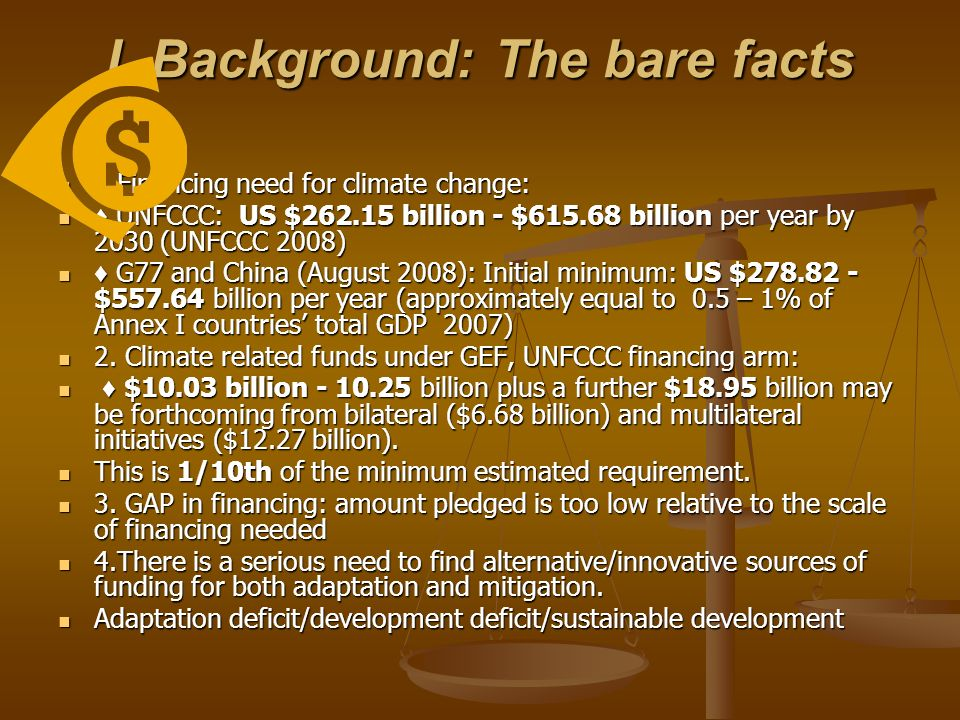 I. Background: The bare facts