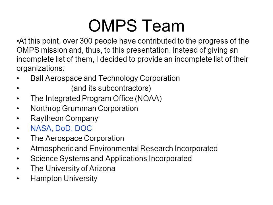 OMPS Team