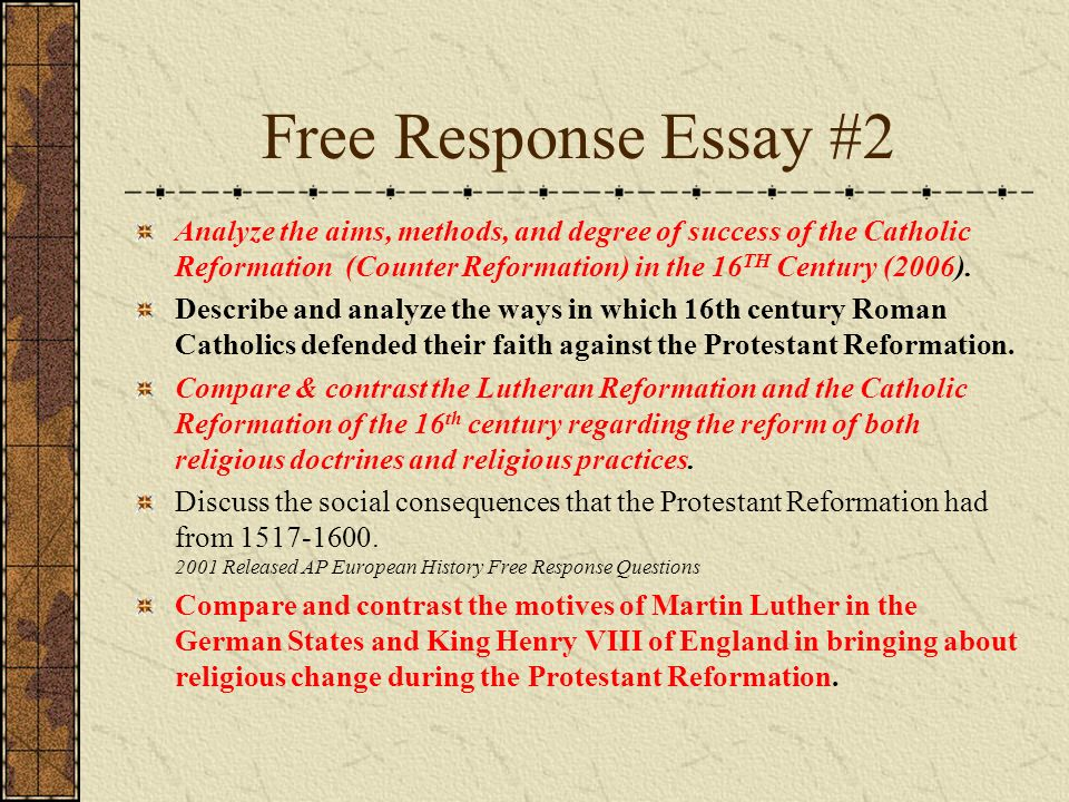 european reformation essay The protestant reformation was the 16th-century religious, political, intellectual and cultural upheaval that splintered catholic europe, setting in place the structures and beliefs that would define the continent in the modern era in northern and central europe, reformers like martin luther, john.