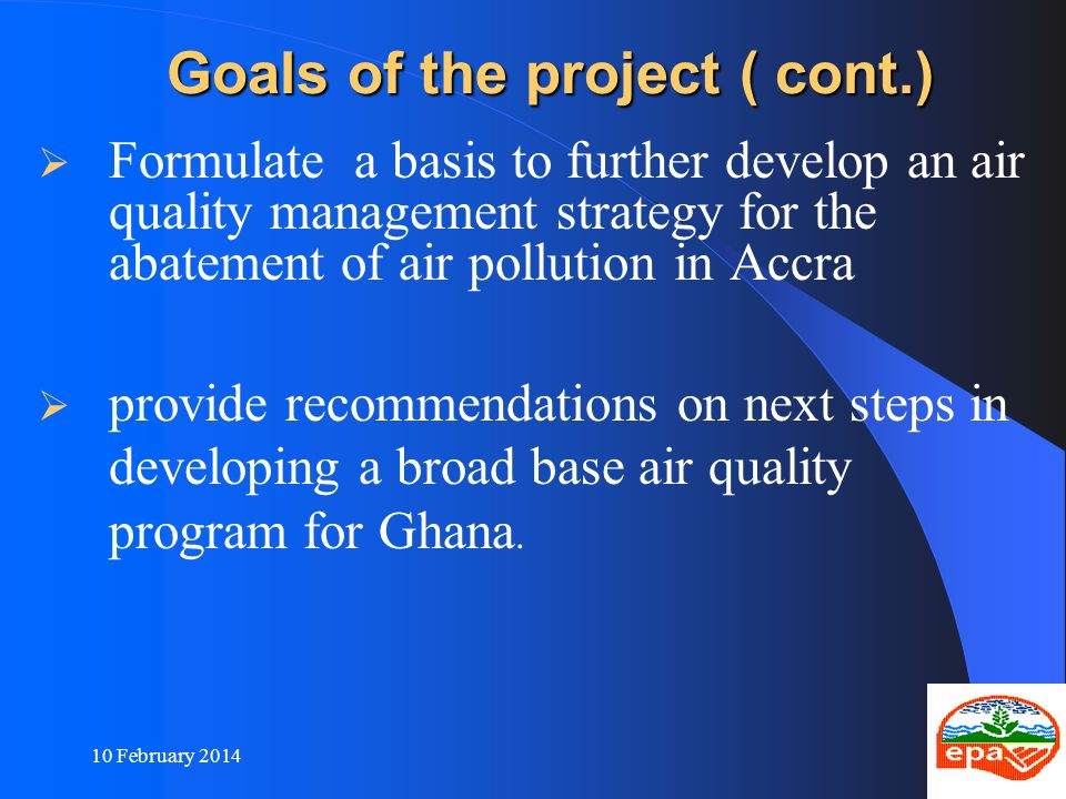 Goals of the project ( cont.)