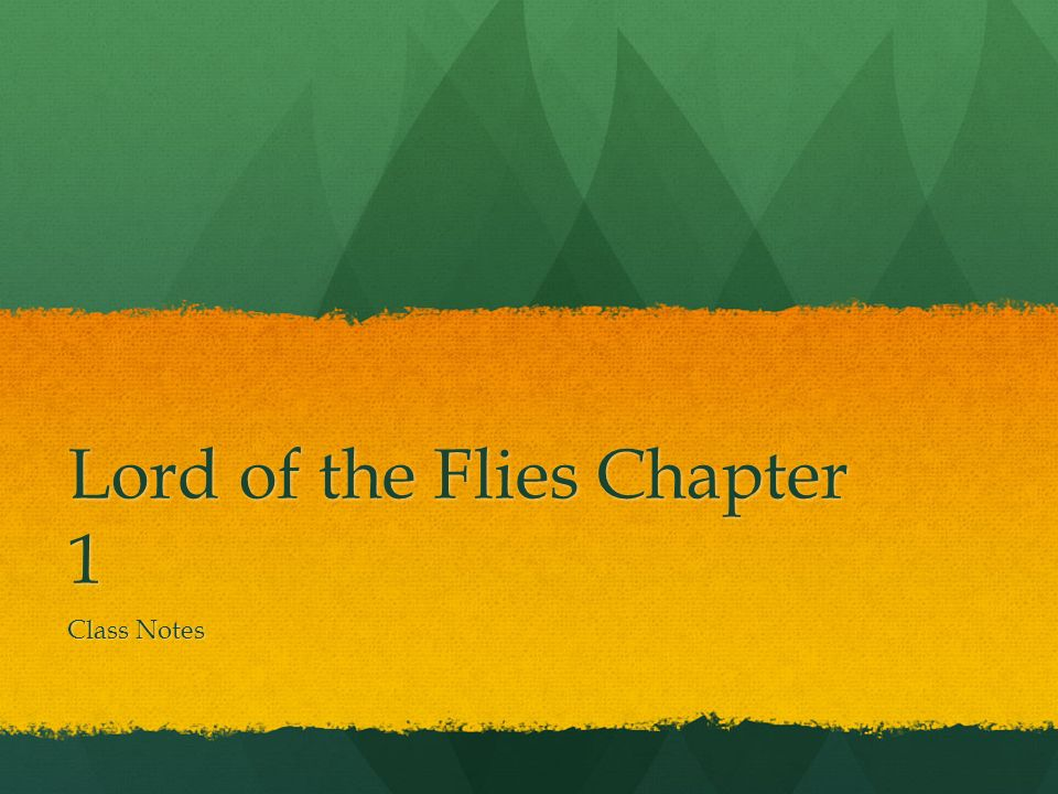 first chapter of lord of the