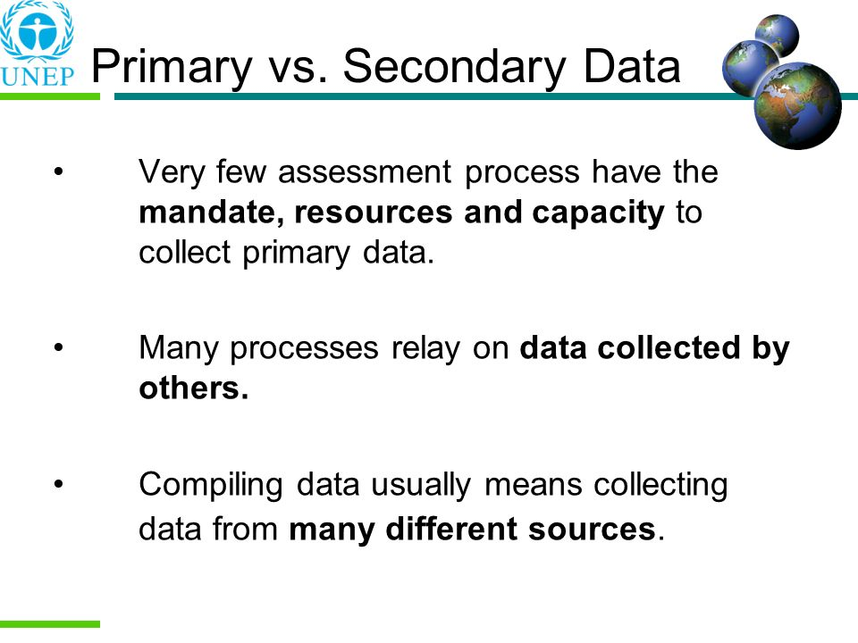 Primary vs. Secondary Data