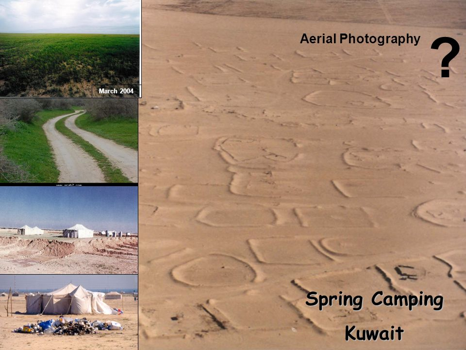 Spring Camping Kuwait Aerial Photography