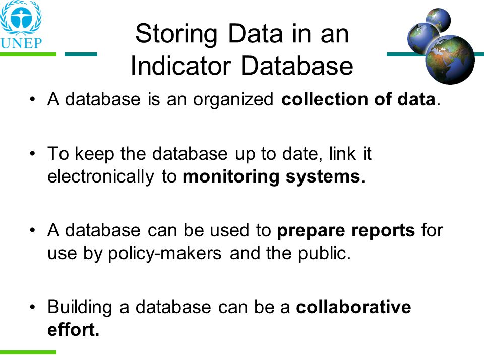 Storing Data in an Indicator Database