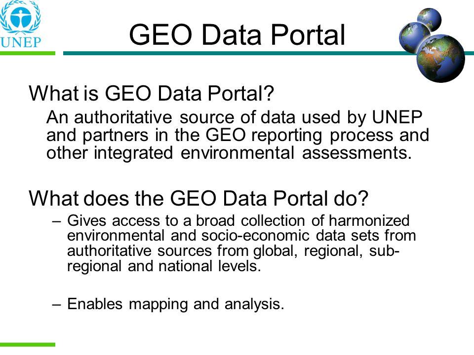 GEO Data Portal What is GEO Data Portal