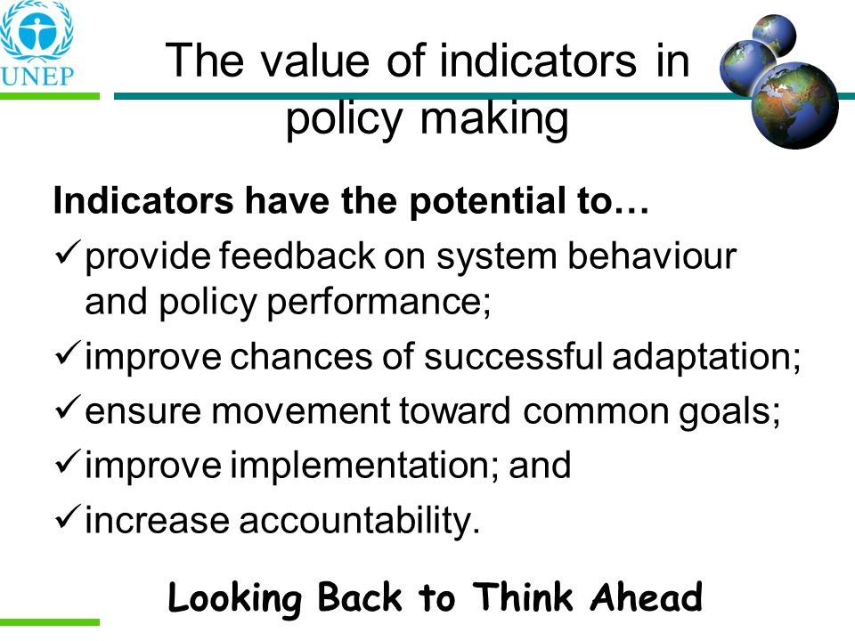 The value of indicators in policy making