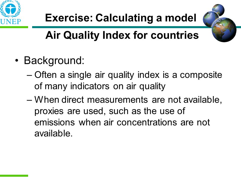 Exercise: Calculating a model Air Quality Index for countries