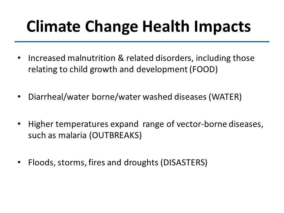Climate Change Health Impacts