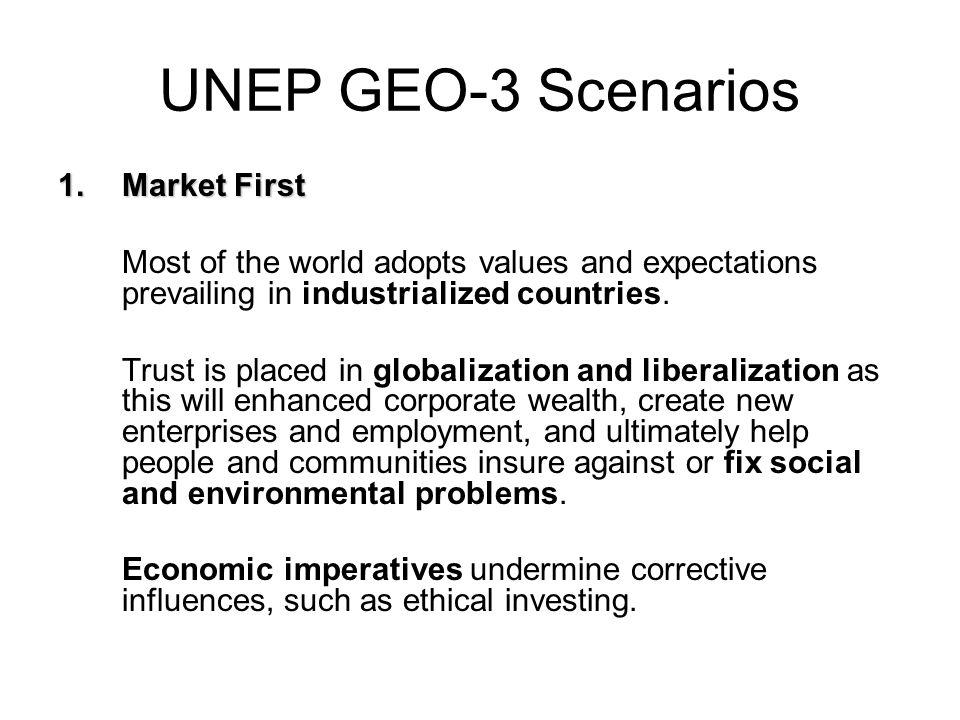 UNEP GEO-3 Scenarios Market First