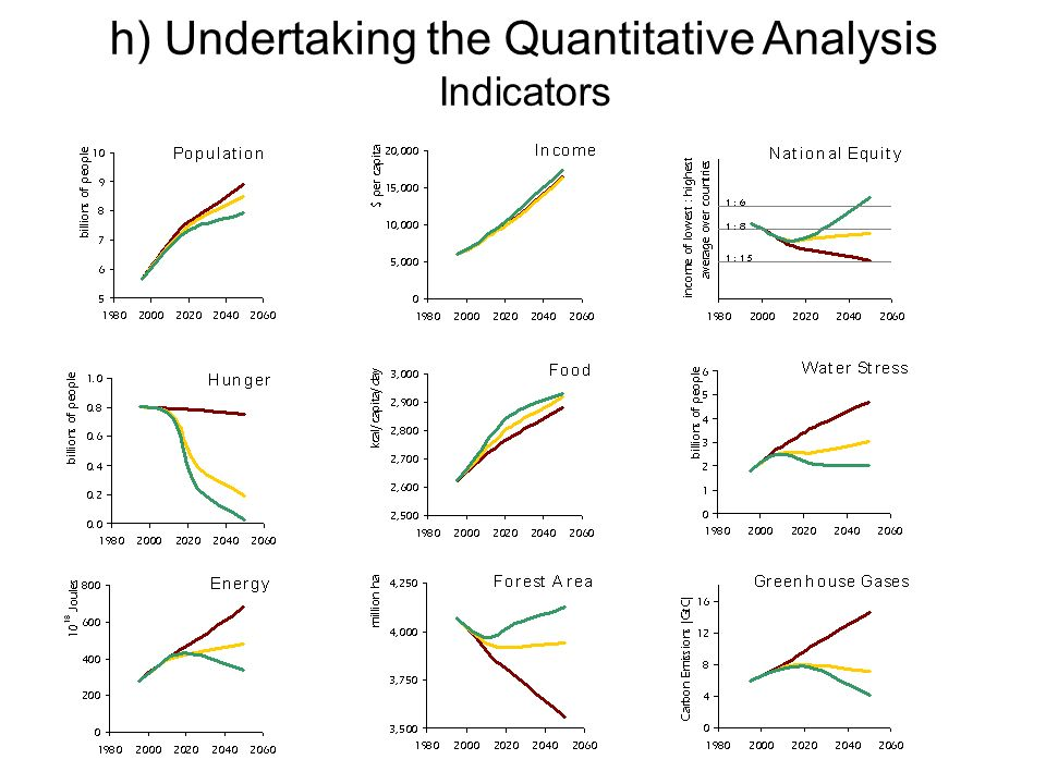 h) Undertaking the Quantitative Analysis