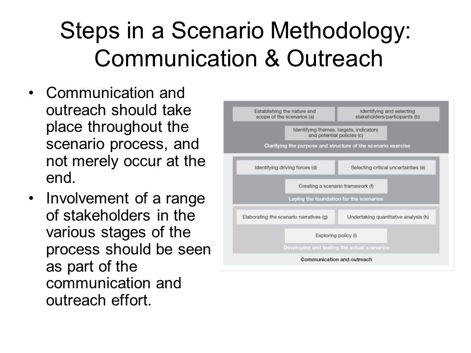 Steps in a Scenario Methodology: Communication & Outreach